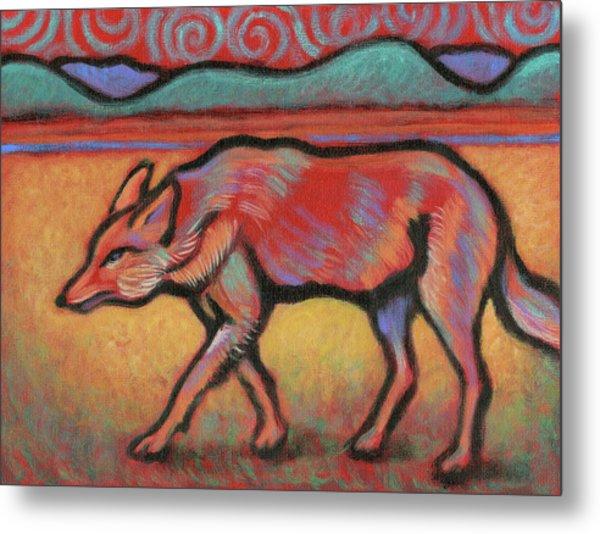 Coyote Totem Metal Print