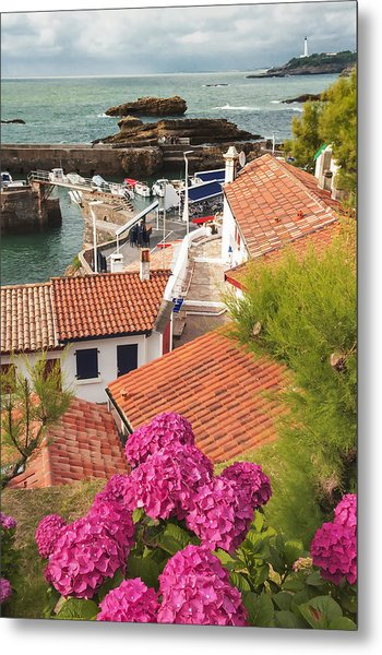 cozy tourist town on the Bay of Biscay Metal Print
