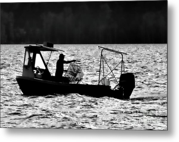Crabbing On The Pamlico Metal Print