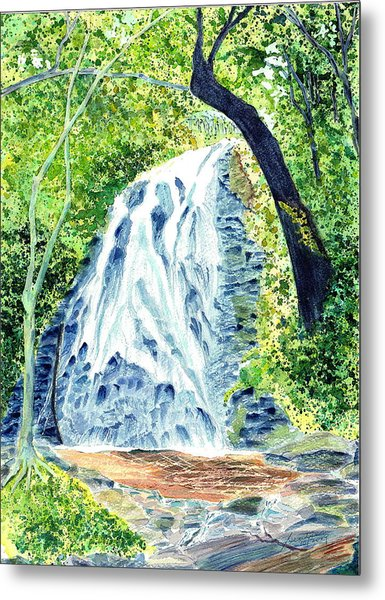 Crabtree Falls - Phantom Of The Blue Ridge Metal Print by Joel Deutsch