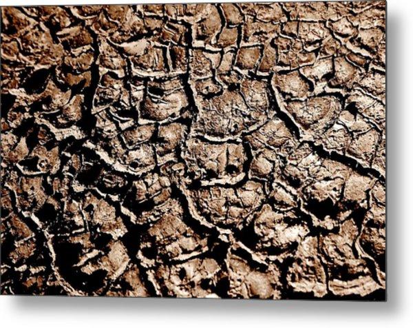 Cracked Earth Metal Print by Caroline Clark