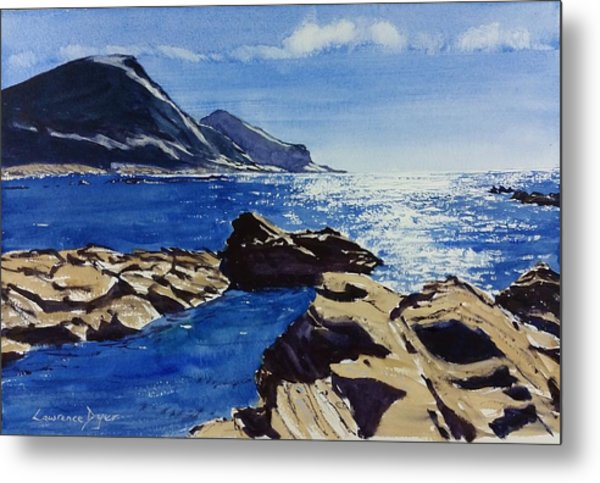 Metal Print featuring the painting Crackington Haven Sparkle by Lawrence Dyer