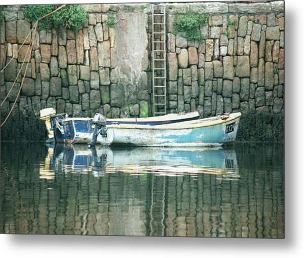Crail Harbour Metal Print