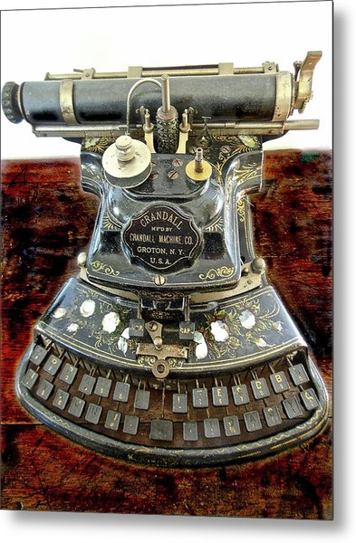 Crandall Type Writer 1893 Metal Print