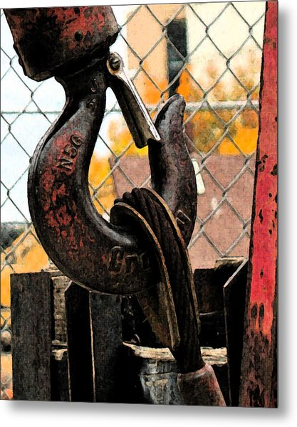 Crane Hook Metal Print by Gary Everson