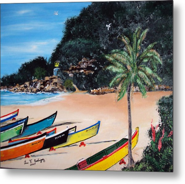 Crashboat Beach I Metal Print