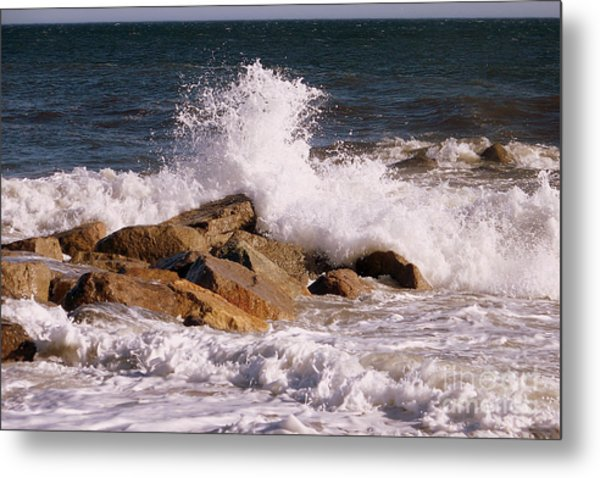 Crashing Surf On Plum Island Metal Print