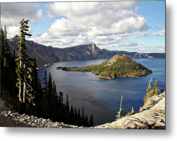 Crater Lake - Intense Blue Waters And Spectacular Views Metal Print