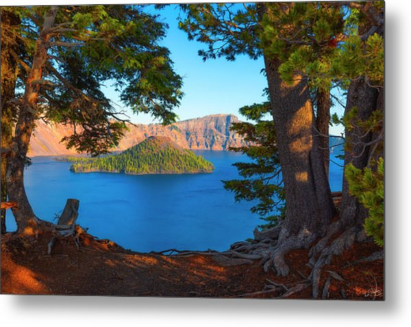 Crater Lake Early Dawn Scenic Views Ix Metal Print