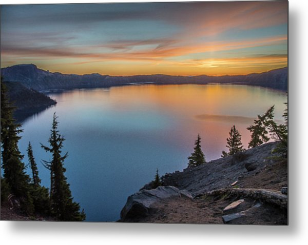 Crater Lake Morning No. 1 Metal Print