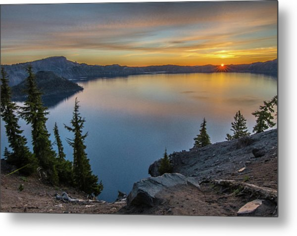 Crater Lake Morning No. 2 Metal Print