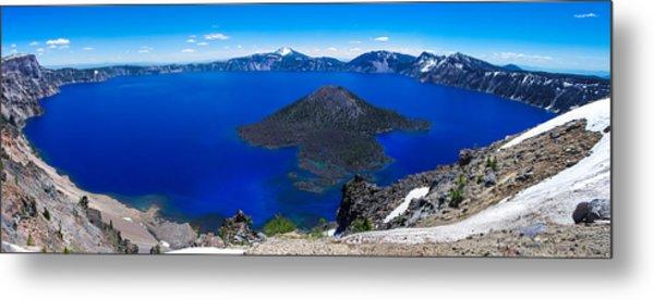 Crater Lake National Park Panoramic Metal Print