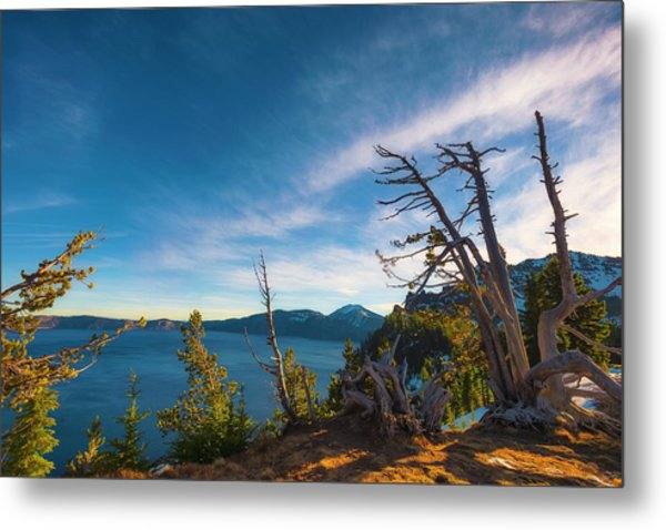 Crater Lake Early Dawn Scenic Views V Metal Print