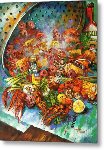 Crawfish Time Metal Print