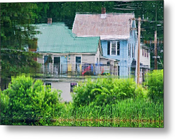Crayola Cottages Metal Print
