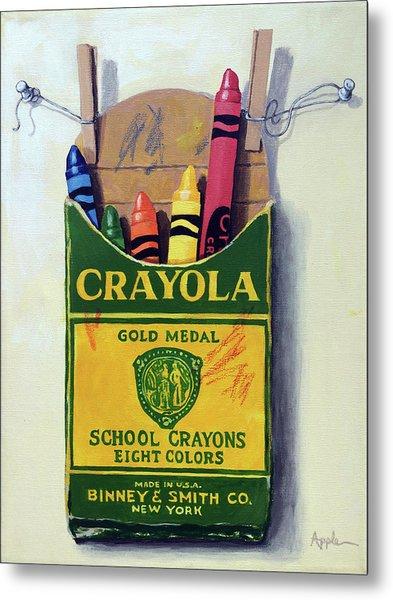 Crayola Crayons Painting Metal Print