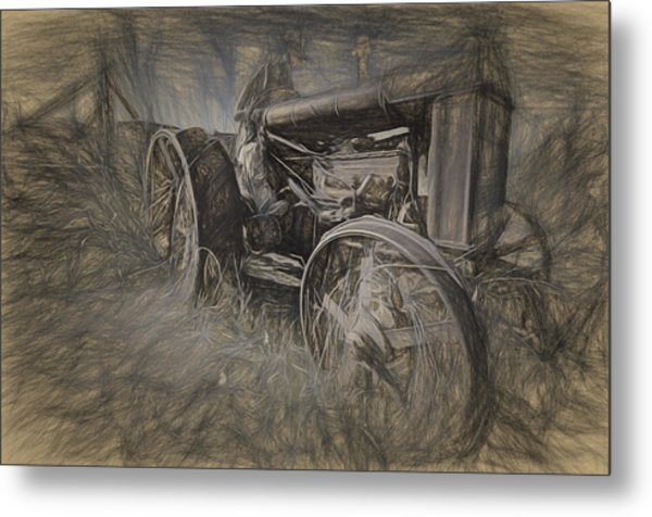 Crazy Farmer Metal Print