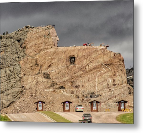 ...entrance Crazy Horse Memorial South Dakota.... Metal Print