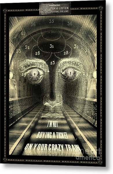 Crazy Train Metal Print