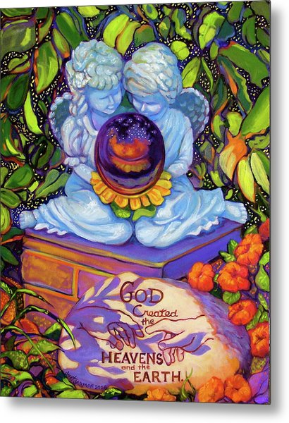 Metal Print featuring the painting Garden Wisdom 1-creation by Jeanette Jarmon