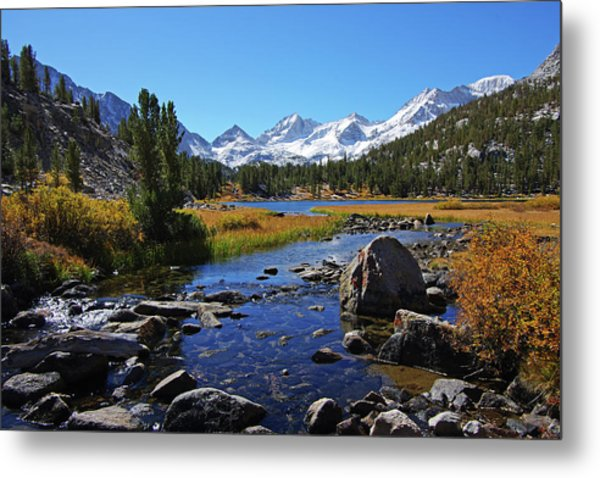 Creek At Little Lake Valley Metal Print
