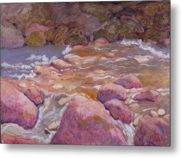 Creek In Spring Metal Print by Robert Bissett