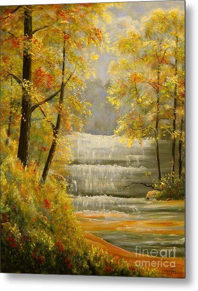 Creek Retreat Xii Metal Print by Connie Tom