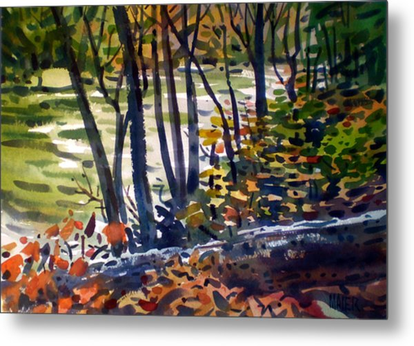 Creekside Tranquility Metal Print by Donald Maier