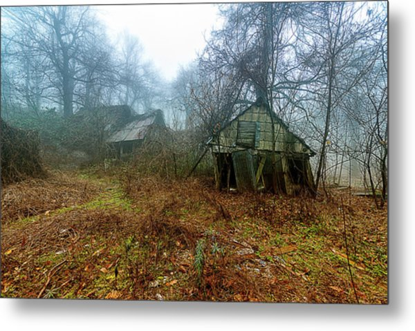 Metal Print featuring the photograph Creepy House by Enrico Pelos