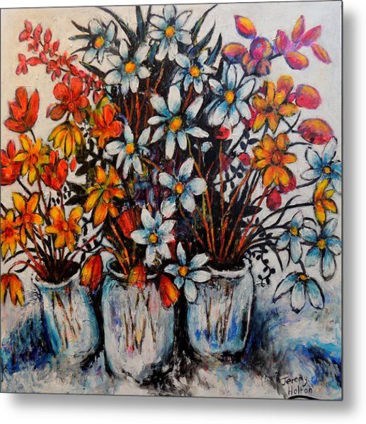 Crescendo Of Flowers Metal Print