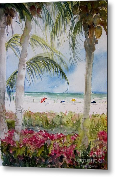 Crescent Beach Marco Island Metal Print