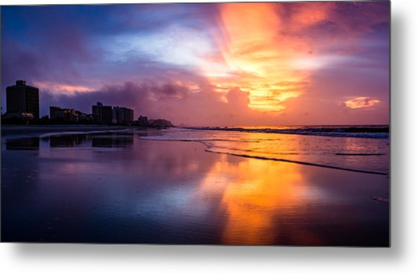 Crescent Beach Sunrise Metal Print