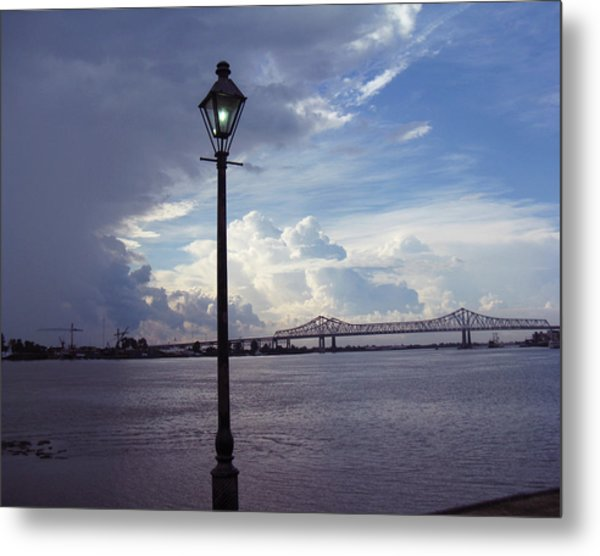Crescent City Connection Metal Print by Tom Hefko