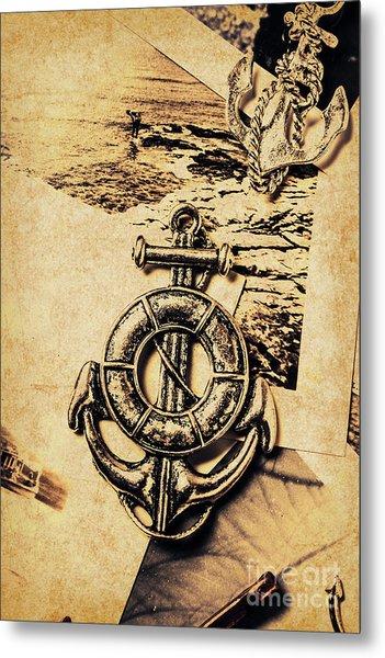Crest Of Oceanic Adventure Metal Print