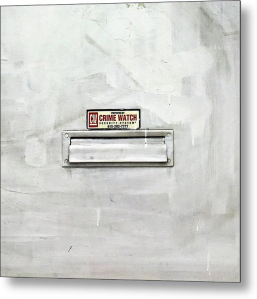 Crime Watch Mailslot Metal Print