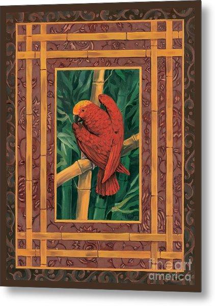 Crimson Parrot Metal Print by Paul Brent