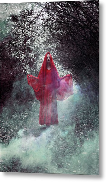 Crimson Prophetess Metal Print