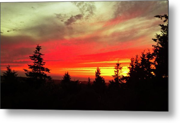 Metal Print featuring the photograph Crimson Sky by Pacific Northwest Imagery