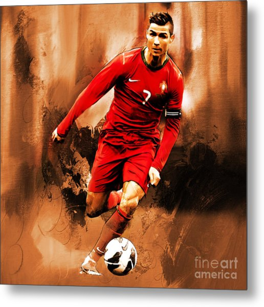 Cristiano Ronaldo 08 Metal Print