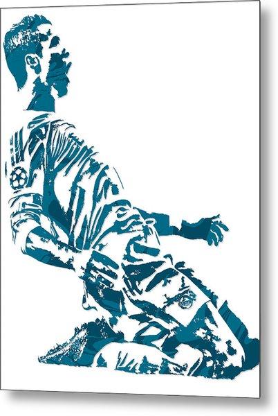Cristiano Ronaldo Real Madrid Pixel Art 2 Metal Print