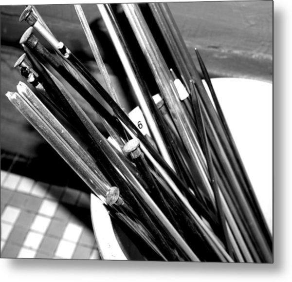 Crochet Needles Metal Print