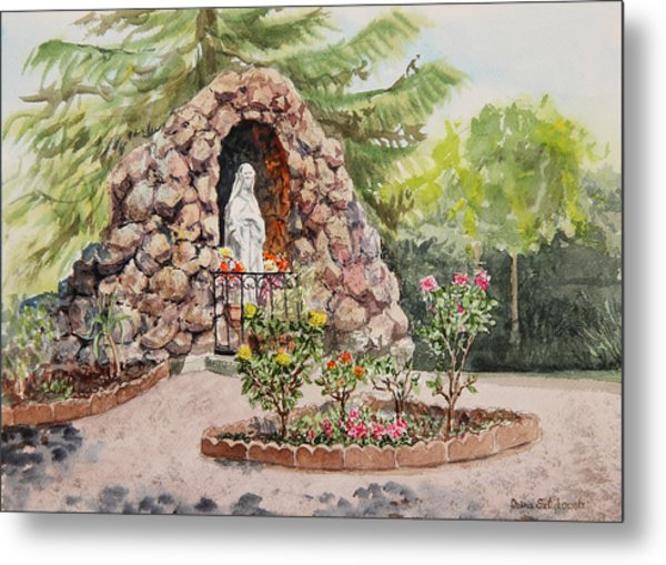 Crockett California Saint Rose Of Lima Church Grotto Metal Print