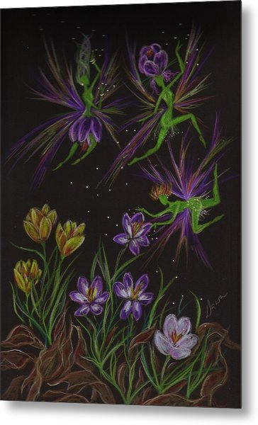 Crocus Metal Print by Dawn Fairies