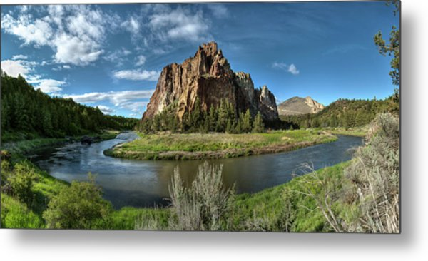 Crooked River And Smith Rock Metal Print
