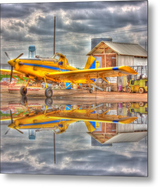 Crop Duster 001 Metal Print