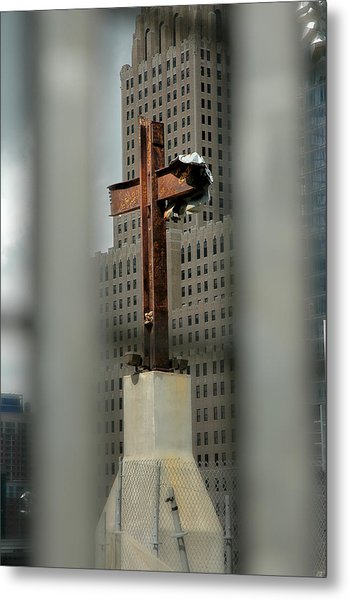 Cross At Ground Zero Metal Print
