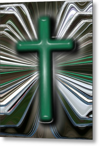 Cross Blast Metal Print by Joshua Sunday