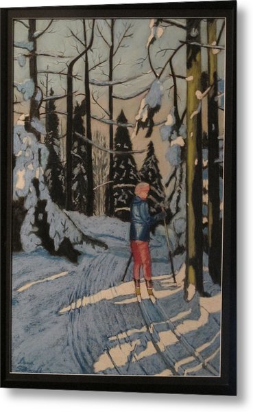 Cross Country Skiing In Upstate Ny Metal Print