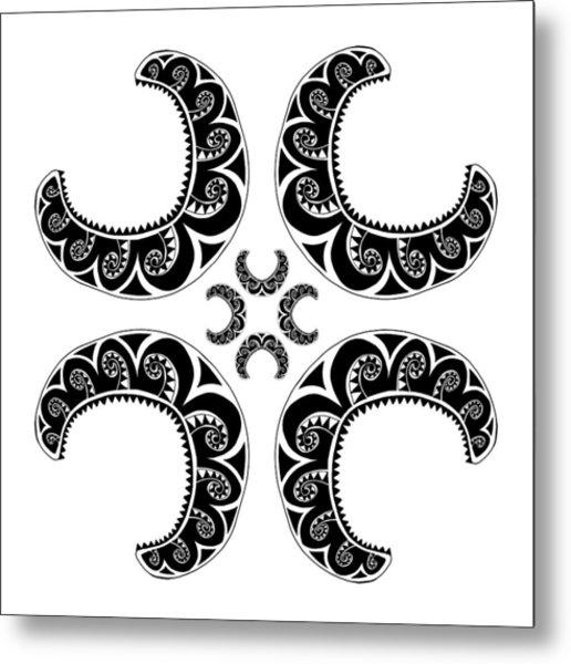 Cross Maori Style Metal Print