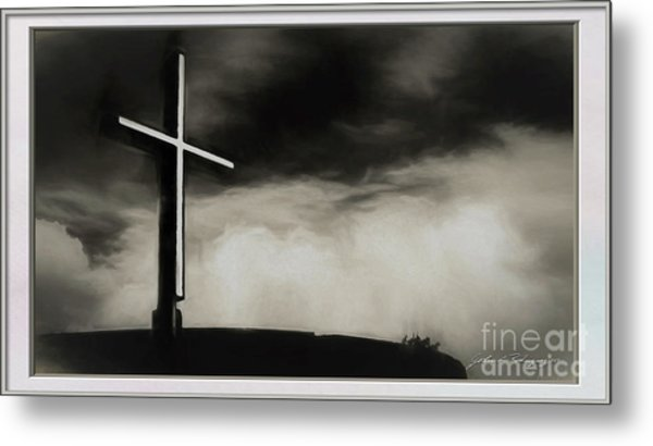 Cross On A Hill Metal Print
